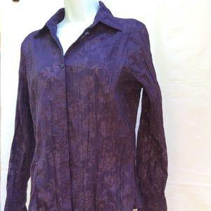 Apt. 9 Long Sleeve Purple Button Down Shirt